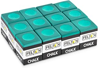 Pool Cue Chalk Cubes, 12-Pack - Table Billiards Stick Bulk Supplies, Equipment, Accessories - Games, Tournaments, Bars, Home, Sports & Hobbies