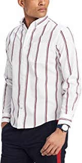 Tommy Hilfiger Men's Max Dobby Striped Classic Fit Shirt