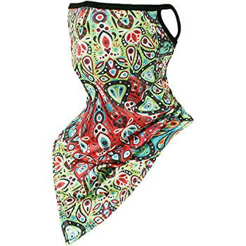 Stoota Ice Silk Face Mask, Colorful Rave Bandana, Neck Gaiter, Scarf, Summer Balaclava for Dust Wind UV Protection