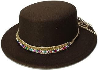 Lei Zhang Wool Boater Flat Top Hat For Men's Felt Wide Brim Fedora Hat Gentleman Prok Pie Chapeu de Feltro Bowler Gambler Top Hat