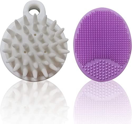 popular Silicone Hair Scalp Shampoo Brush outlet online sale Bath Baby & Facial Cleansing Brush for Women, Kids,Baby,Hair Scrubber Head Massager,Silicone outlet sale Face Scrubbers Exfoliator Brush*4 sale