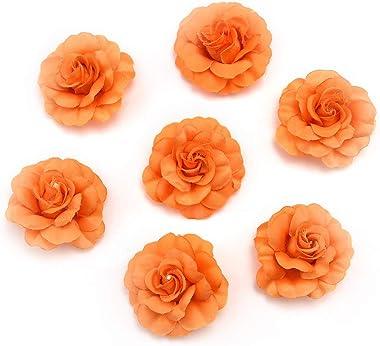 Fake Flower Heads in Bulk Wholesale for Crafts Artificial Silk Mini Rose Flower Head Wedding Home Decoration DIY Party Festiv