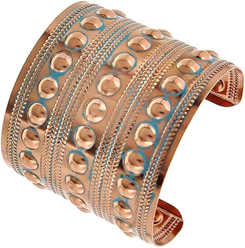 Copper Patina Bubble Cuff Bracelet Auralee & Co.