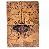 YHB Case for iPad Air, Marauder's Map Vintage Magic School Pattern Leather Flip Stand Case Cover for ipad Air 1th (2013 Model)
