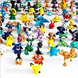 A Set of 144PCS Pokemon Character Models Pokemon Monster Toy Dolls, Mini Pokemon Movable Dolls, Pokemon Dolls Including Pikachu, Fire Lizard, Squirrel Children