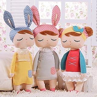 Cute Metoo Angela Rabbit Dolls Cartoon Animal Design Stuffed Babies Plush Doll for Kids Birthday/Christmas Gift Children Toy (Grey)