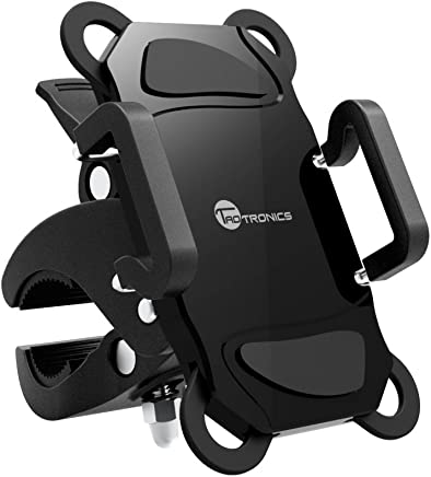 Bike Phone Mount Bicycle Holder, TaoTronics Universal Cradle for iOS, Android Smartphones, GPS, and Other Compatible Devices, Slide-Proof Clamp, 360 Degrees Rotatable, Rubber Strap