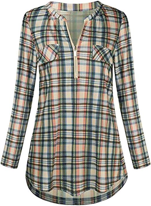 Camisa de Mujer Otoño Verano Blusa Camisa Manga Larga ...