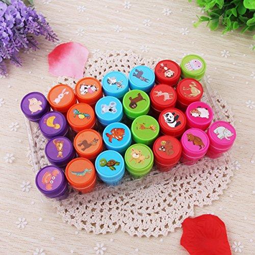 Gummi-Stempel-gesetzte, Kind-lustige Plastikselbstfärben-Stempel-Spielwaren Baby-DIY Fertigkeiten 26Pcs / gesetztes Tier