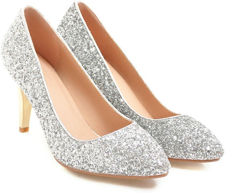 QIN&X Damen Stiletto High Heels Schuhe Flache Mund Schuhe    4ecb77