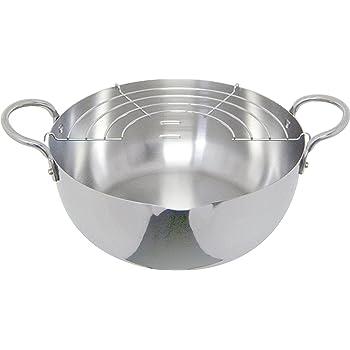 ウルシヤマ金属 揚げ鍋 アミ付 22cm ステンレス 12141