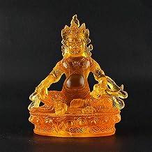 PPCP Buddha Ornament Collection Chinese Tibet Tibetan Buddhism Imitation Glaze/Glass Yellow Jambhala Wealth God Statue
