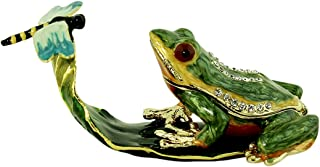 EchoMerx Frog and Dragonfly Trinket Box