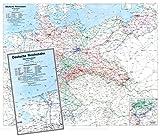 Historische Übersichtskarte: Deutschland 1938 - Reichsbahndirektionen der Deutsche Reichsbahn [84 x 67 cm gefaltet auf A 4] Mit den Reichsautobahnen ... im...