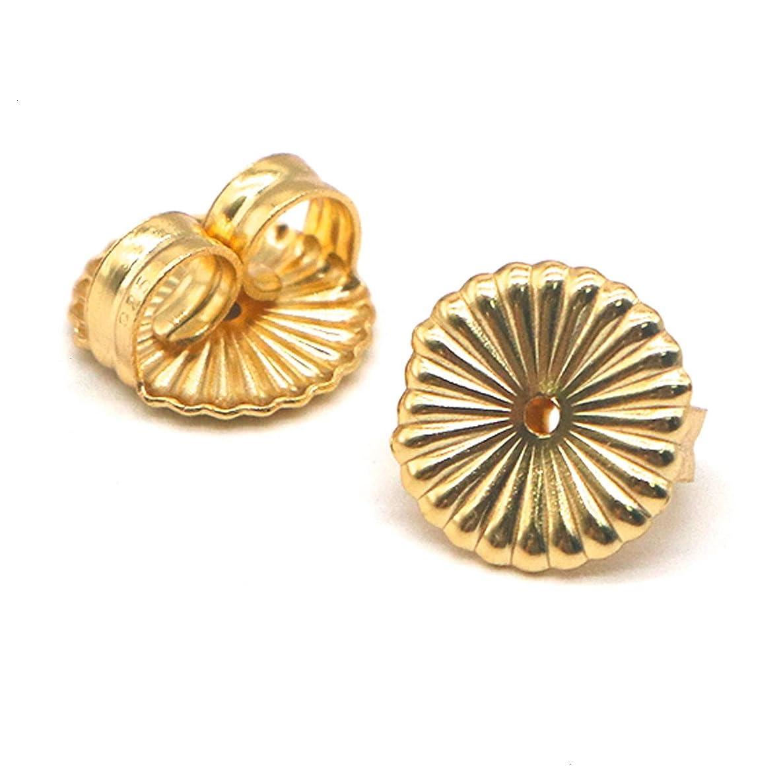 HUELE Gold Ear Locking Earring Backs Earring Back Replacement