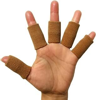 Kylin Express 5PCS Sports Elastic Finger Sleeve Protector Brace Support - Beige A3