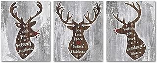SUMGAR Brown Moose Head with Sayings Rustic Art Prints - Set of 3-8x10 Unframed Posters