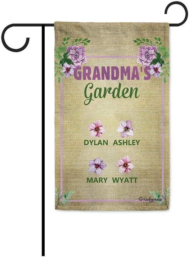 KafePross Spring Flowers new work Animer and price revision Garden Flag with Custom 4 Grandma Child