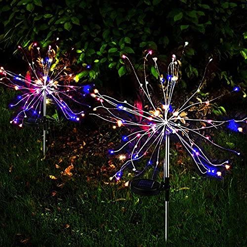 Cadena De Luces, 120 LED Fuegos Artificiales Luces Hadas 8 Modos De Iluminación con Control Remoto - para Interiores/Al Aire Libre/Jardín/Boda/Navidad/Partido (2 Paquete)