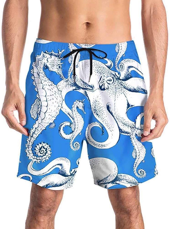 Aomoto Men Surf Swim Trunks Beach Shorts Quick Dry Drawstring Adjustable Waist HalfLength Swim Pants  6