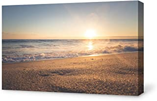 SIGNFORD Canvas Wall Art Sunrise on Beach Modern Home Decor Canvas Painting Wall Decoration for Bedroom Living Room - 32x48 inches