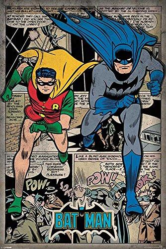 Dc Comics - Batman - Comic Montage - Retro Druck Plakat Film Poster - Größe 61x91,5 cm + 1 Ü-Poster der Grösse 61x91,5cm