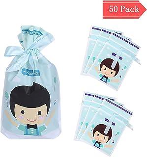 Bolsas de regalo, CNNIK 50PCS Bolsas de dulces hornear Bolsas de envoltura de alimentos Dibujos