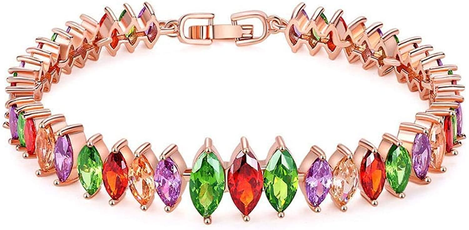 Zicue Stylish Charming Bracelet Exquisite Ornaments Women's gifts inlaid with color, hao stone fashion bracelet ( color   A )