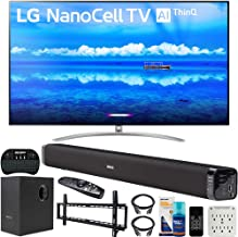 $1996 » LG 65SM9500PUA 65-inch 4K HDR Smart LED NanoCell TV with AI ThinQ (2019) Bundle with Deco Gear 60W Soundbar with Subwoofer, Wall Mount Kit, Deco Gear Wireless Keyboard and 6-Outlet Surge Adapter