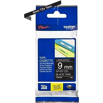 2x LAMINATED TAPE // SCHRIFTBAND 9mm komp BLACK // WHITE zu EPSON Prifia OK720