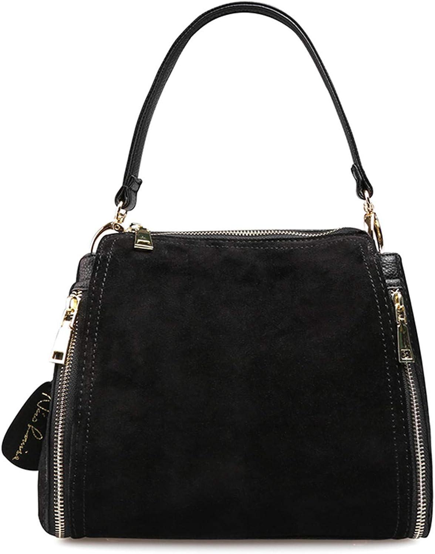 Availcx Frauen echte Wildleder Schultertasche Mode Freizeit Handtasche Top-Griff Taschen B07KW6Y334  Creative