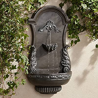 "John Timberland Tivoli Bronze Ornate 33"" High Wall Fountain"