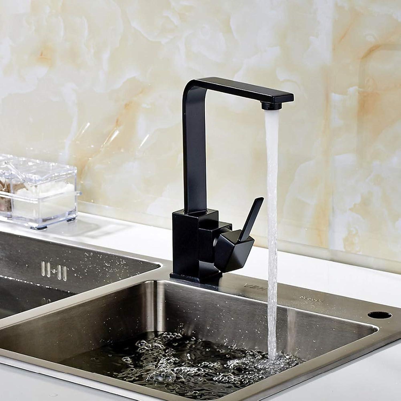 Modern Kitchen Kitchen 360 Degree redation Multiple Choices Kitchen Sink Mixer Taps,Black