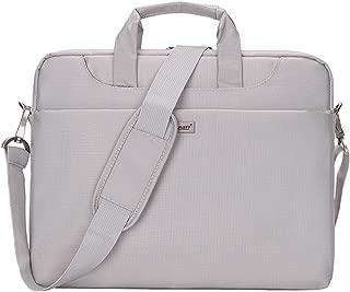 YOUPECK Nylon Laptop Shoulder Bag Compatible 14-15 Inch MacBook Air/Pro, Waterproof Notebook Messenger Bag Business Briefcase Men Women Carrying Handbag, Beige