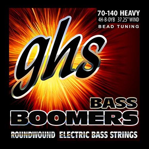 GHS Cuerdas 4h-b-dyb bajo eléctrico Boomer juegos de cuerdas chapado en níquel...