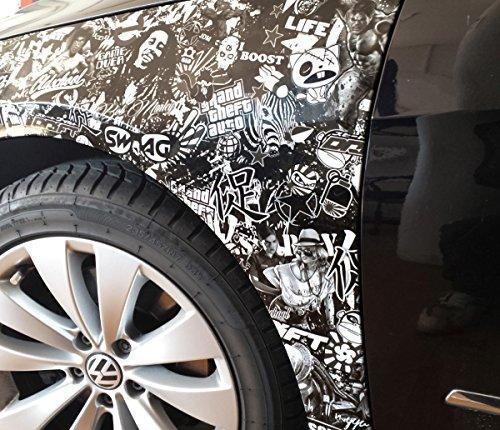 30x150cm Stickerbombfolie Stickerbomb folie Autofolie aufkleber sticker bomb car wrapping