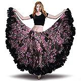 ROYAL SMEELA Womens Belly Dance Skirt ATS Voile Maxi Full Flamenco Skirts Tribal Bellydance Chiffon Bohemian...
