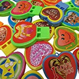 Toy Cubby Mini Heart Shaped Whistles 24 Pack - Assorted I Love You Heart Whistles Party Favor Play Set of 24 for Birthdays, Camping, Barbecues, Graduations, Beach and Playground