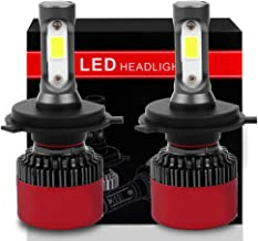 OCPTY H4/9003 LED Headlight Bulb, 80W 6500K 8000LM Hi/Lo Beam Conversion Kit LED Headlamp Super Brighter - 1 Year Warranty(2pcs)