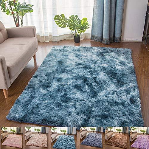 Teppiche Für Wohnzimmer, Teppiche Kindermatte, Shaggy Super Weicher Teppich Geeignet Als Schlafzimmerteppich Home Decor, Navy Blau,200x400cm