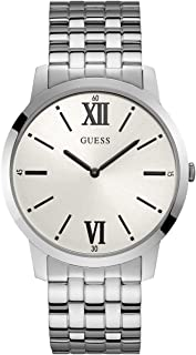 GUESS Factory White and Silver-Tone Analog Watch