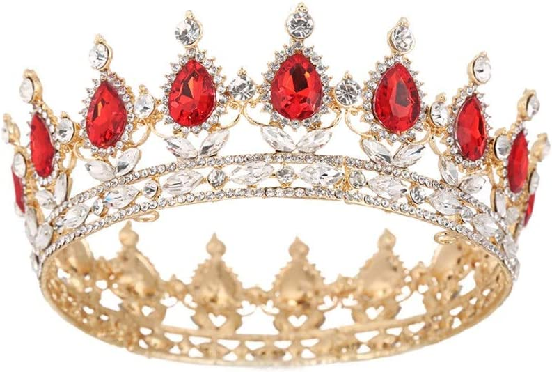 YYQ Wang Hao Alloy Rhinestone New sales Bride Crown Artificial Baroque Gem Max 56% OFF