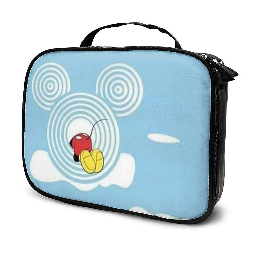 面倒略すわずかなDaitu雲に侵入するミッキー 化粧品袋の女性旅行バッグ収納大容量防水アクセサリー旅行