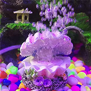Katoot Pearl and Shell Aquarium Fish Tank Toys Decoration Ornament Oxygen Pump air Bubble Stone air Pump Drive 4mm Tube Nice