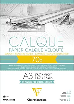 A3 Semi Transparent Layout Pad 60 Sheets 5 x Ashton and Wright 50gsm Paper