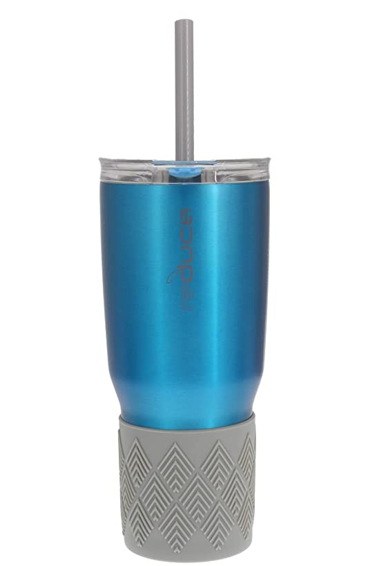 REDUCE COLD-1 Tumbler - 24oz Stainless Steel Insulated Tumbler With Straw & Lid - Reduce Insulated Tumbler Keeps Drinks Hot & Cold - A Perfect Water & Coffee Travel Mug For the Office, Car & Home
