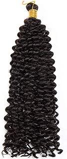 3Pcs/5Pcs/7Pcs Water Wave Ombre Crochet Braids Synthetic Braiding Hair Jamaican Bounce Crochet Hair Afro Kinky Braids,1B/30Hl,14inches,3Pcs/Lot