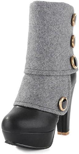 Kitzen Frauen Stiefel Ankle High Heel Western Sexy Sexy Sexy Mode Kampf Farbe Herbst Winter Ferse schnüren Sich Oben Plattform Kurze Stiefel  Einzelhandelsgeschäfte