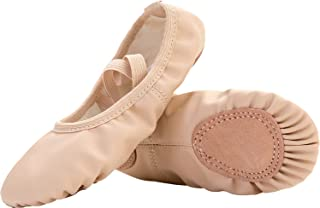 Spesoul Womens Girls Ballet Shoes Soft Pointe Dance Shoe Flats Slippers for  Women Infant Toddlers Kids c7826053e