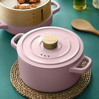 weiwei Heat-Resistant Casserole Stew Pot Ceramic Casserole-Household Ceramic Cooking Utensils with Lid,Simple Soup Ceramic...